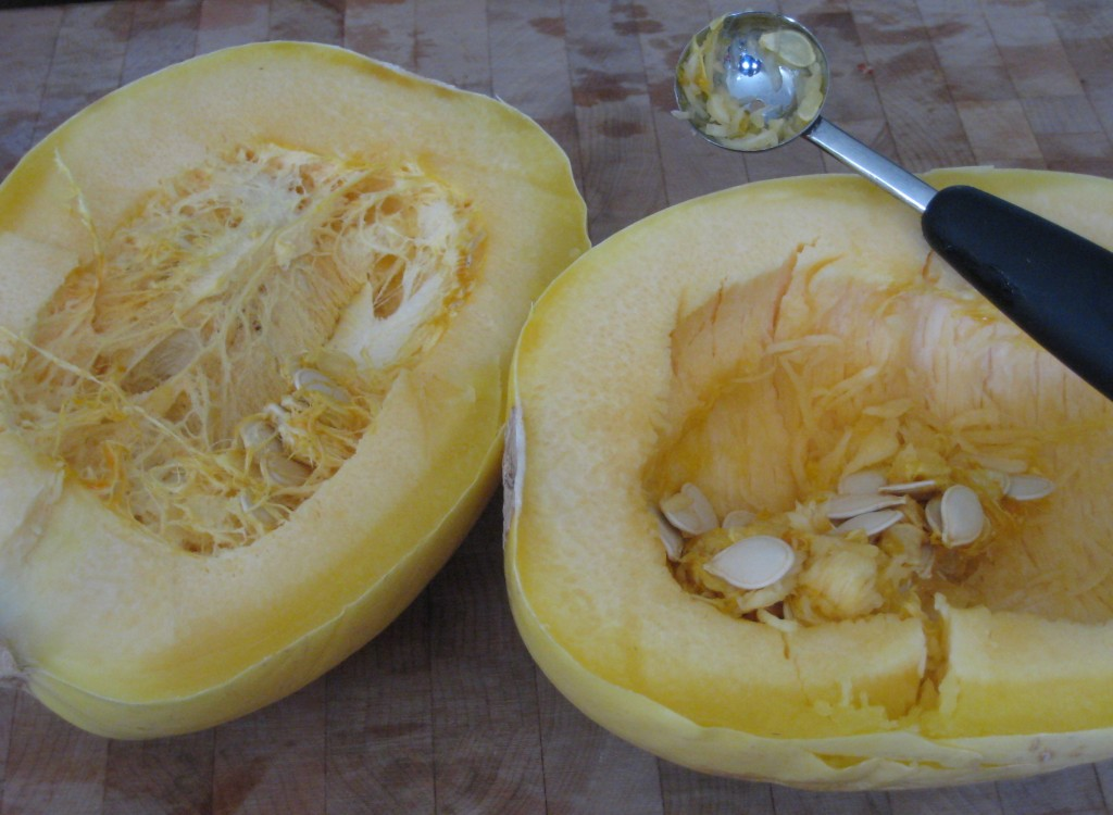 Roasted Spaghetti Squash - scoop