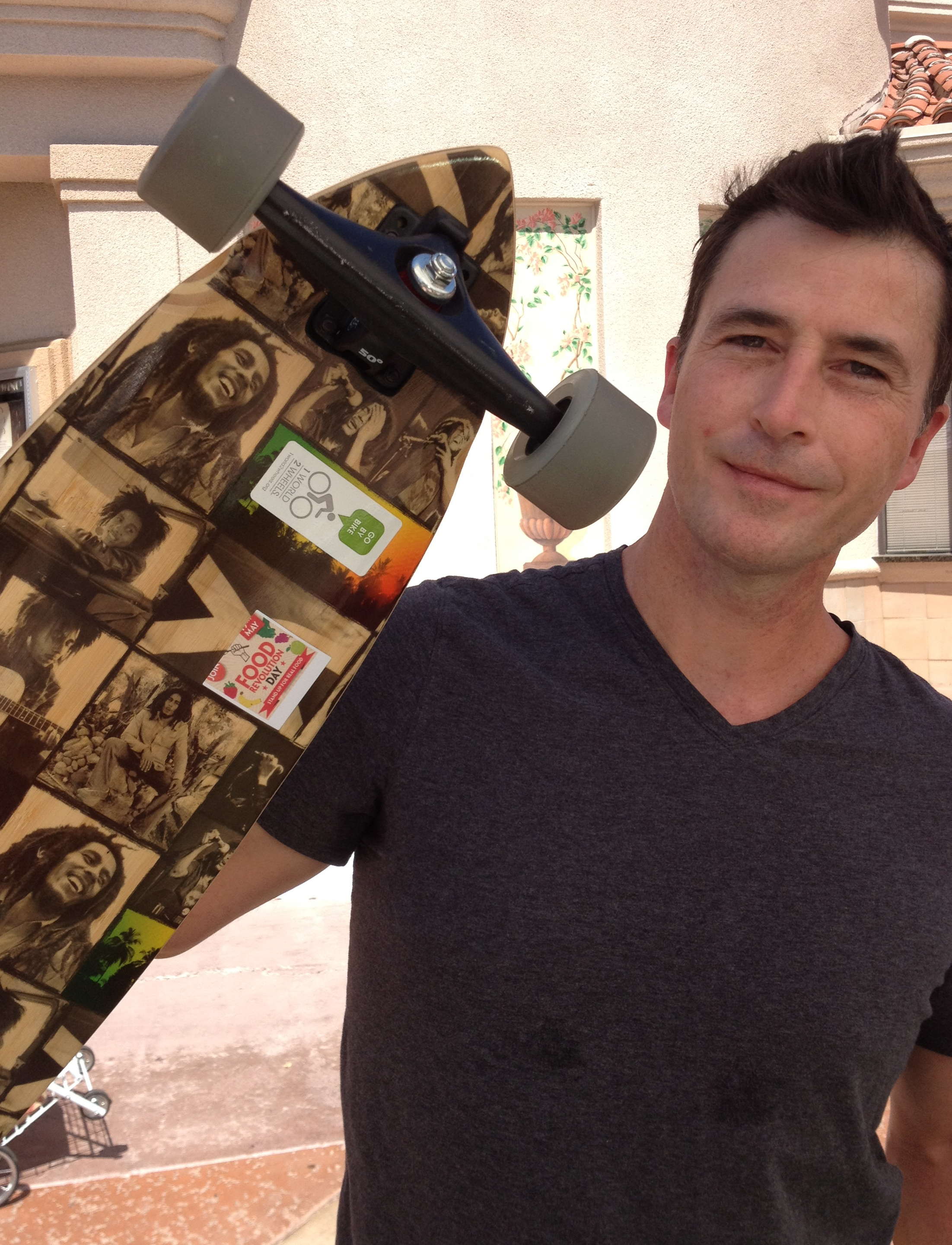 Palm Springs Food Revolution skateboarder